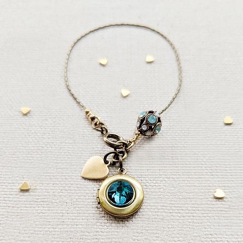 One Thing Locket: Elegance Locket Bracelet with Swarovski Filigree Bead