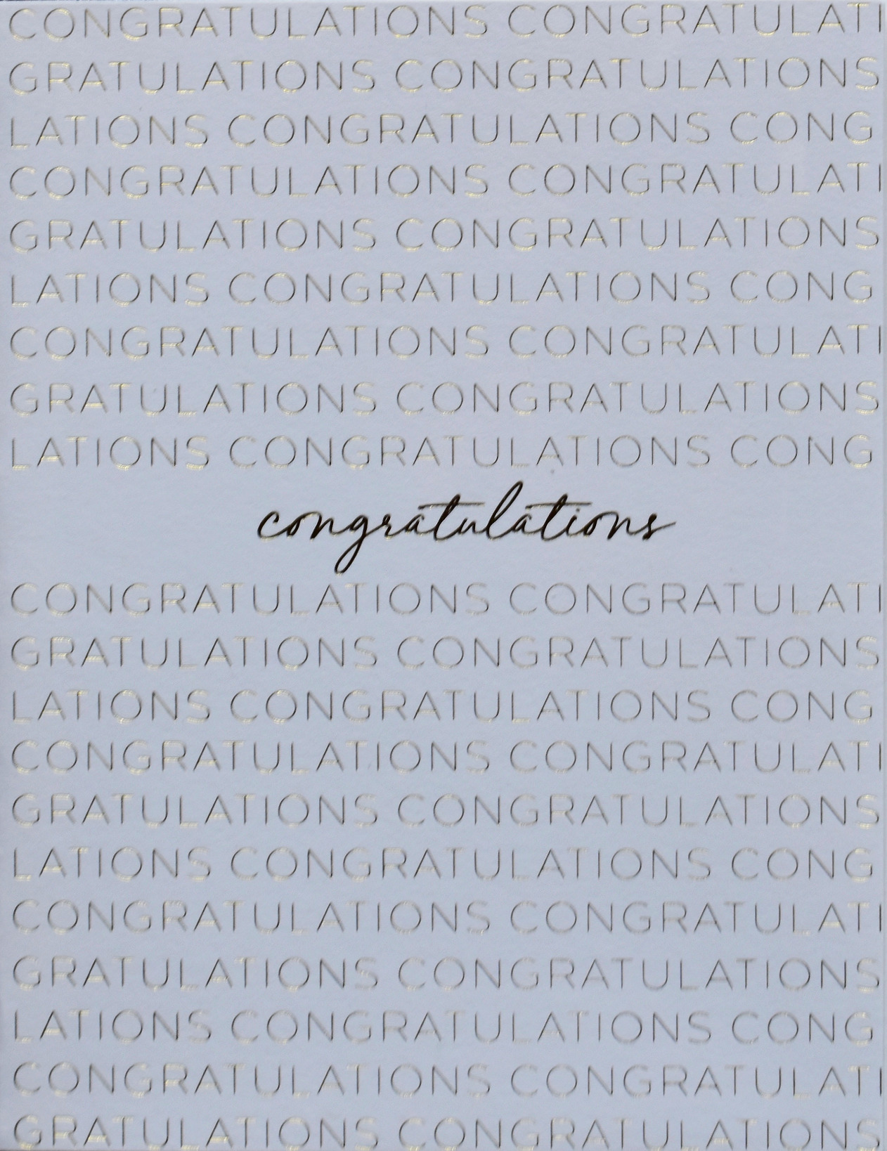 Congratulations (Gold)
