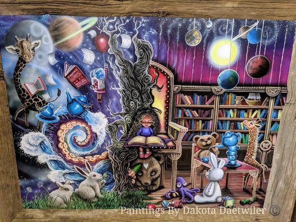 "Hazel's World (40"" x 30"" Original Acrylic Painting)"
