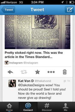 Kat tweeted me again!