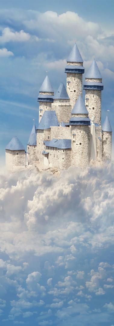 """Готовые фотообои для детской """"Воздушный замок"""""""
