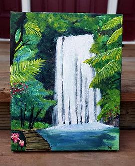 "Caribbean Waterfall (8""x10"")"
