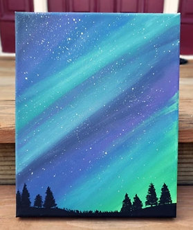 "Northern Lights (8""x10"")"
