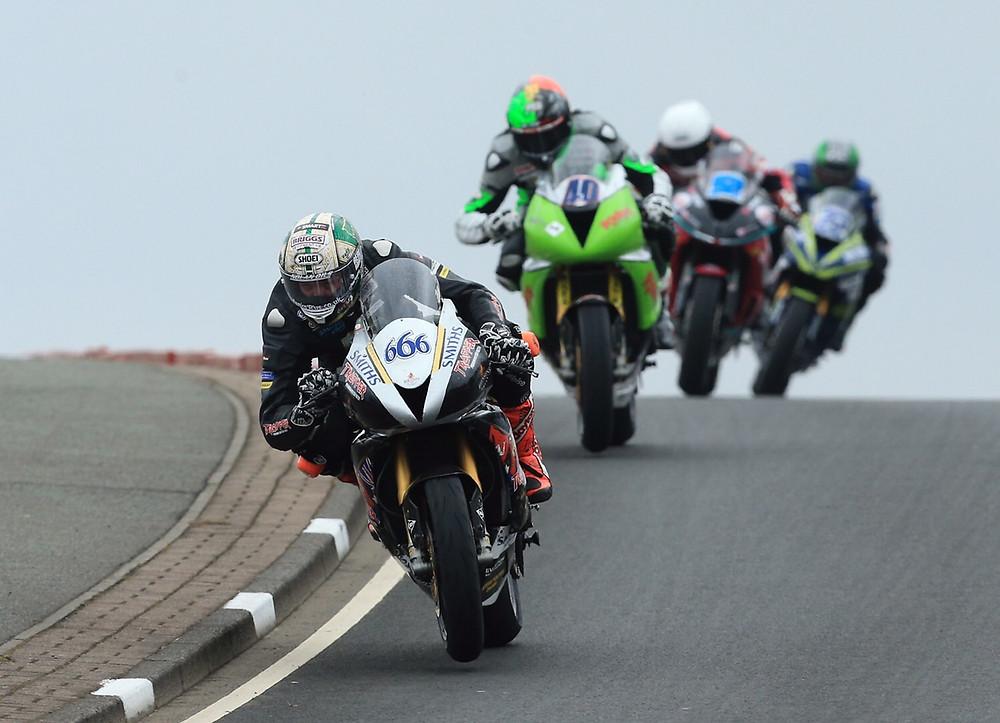 Peter Hickman racing at NW200 (image credit NW200 Media)