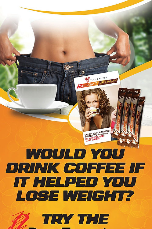 """Stand-up banner """"6 Day Experience SlimROAST Optimum"""""""