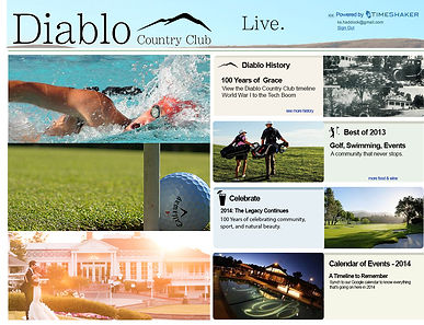 Diablo Country Club Splash Page