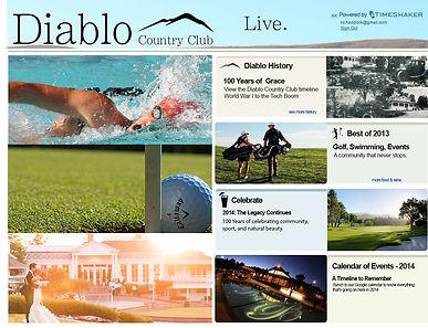 Diablo Country Club Splash Page