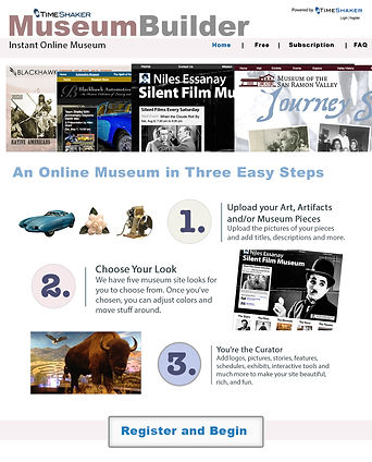 Web App designed to attract small museums