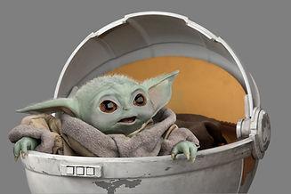 Baby Yoda in the Pram