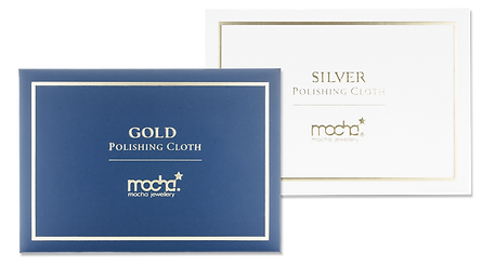 Free Polishing cloth. Mocha Jewellery