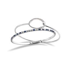 14K金鑲嵌鑽石藍寶石手鐲系列