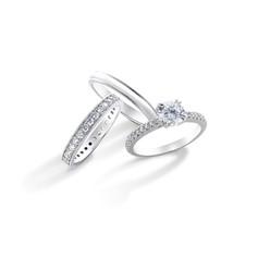 18K金鑲嵌鑽石婚嫁系列