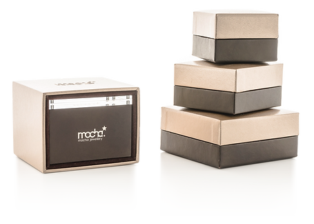 All Jewellery is delivered in an exclusive Mocha gift box. Mocha Jewellery