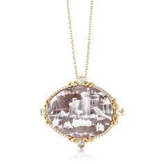 18K金鑲嵌鑽石及天然貝殼系列