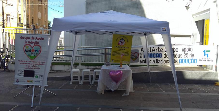 Stand para Comemoração do Dia Nacional da Adoção.