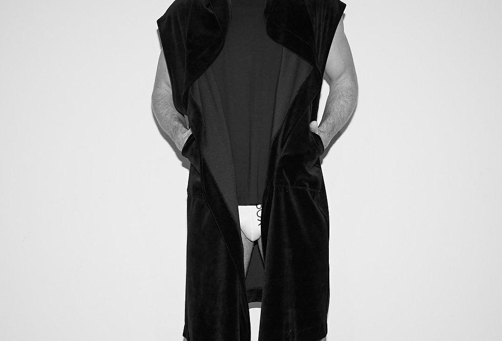 Black Velvet Pullover Hoodie