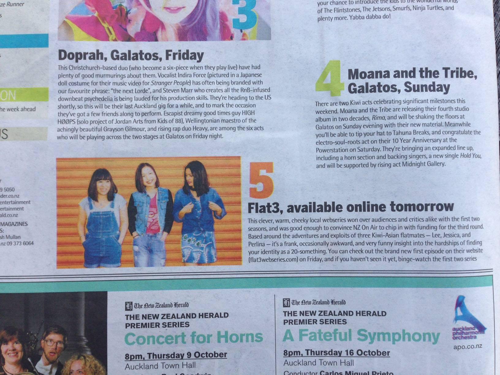 Timeout NZ Herald, 2014