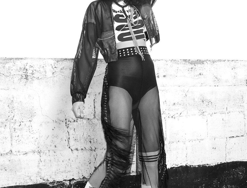 Oversize Leather Fringes Pants