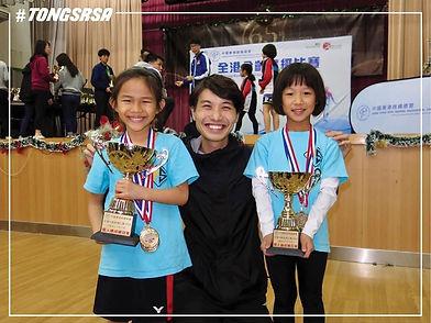 全港分齡跳繩比賽-女子6歲或以下總成績冠軍及亞軍