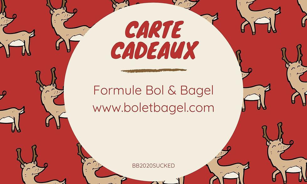 "Carte Cadeaux ""Bol & Bagel"""