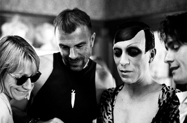 Thierry Mugler and Joey Arias (middle) -