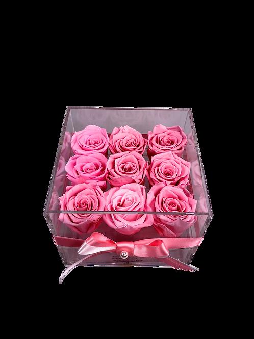 Medium Acrylic 9 Pink Roses