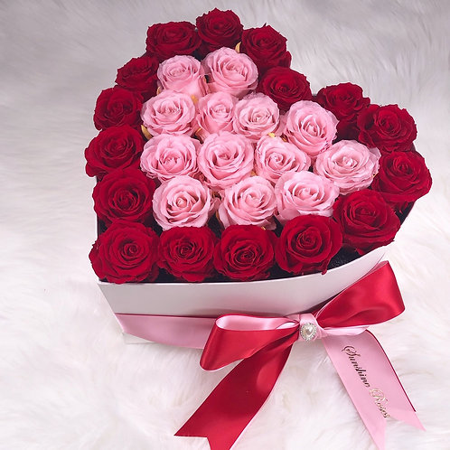 Medium Heart Preserved Roses