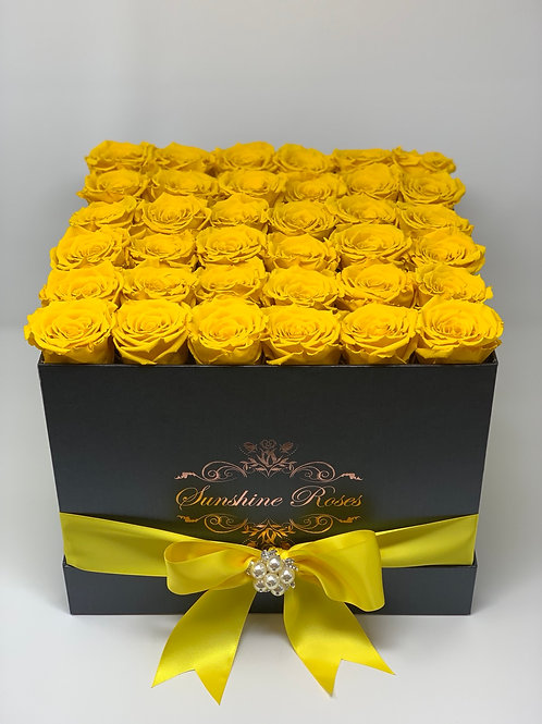 Large Square Rose Box