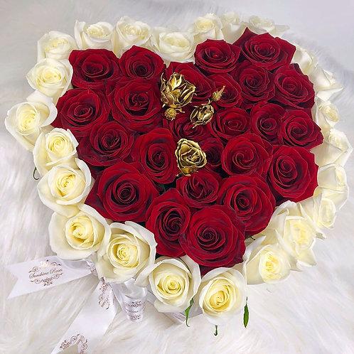 Natural Roses Small Heart
