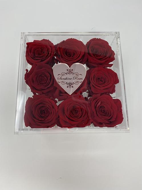 Medium Acrylic 9 Red Roses