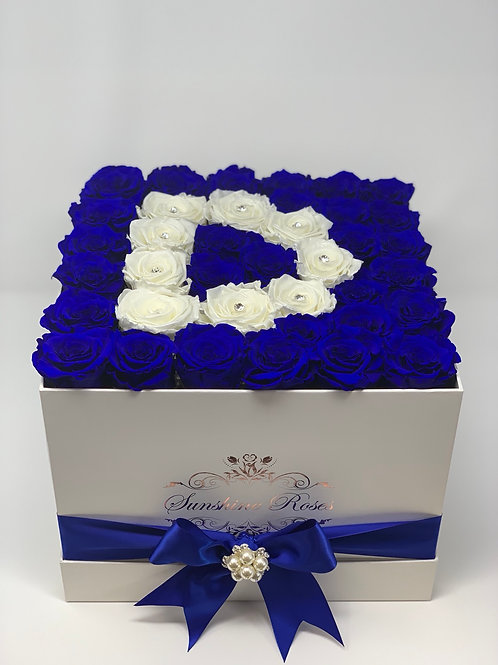 Large Square Rose Box - Initial