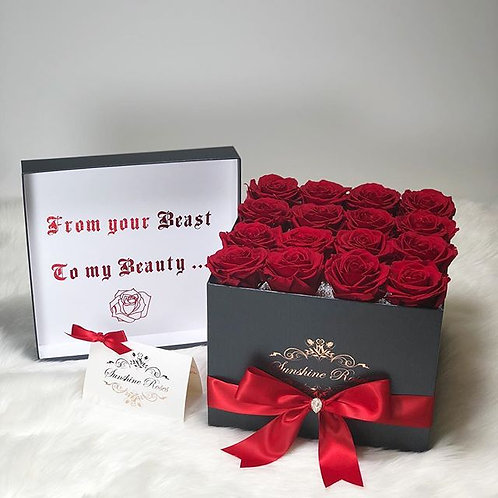 Large Square Jumbo Roses Box