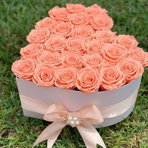 Heart Preserved Roses