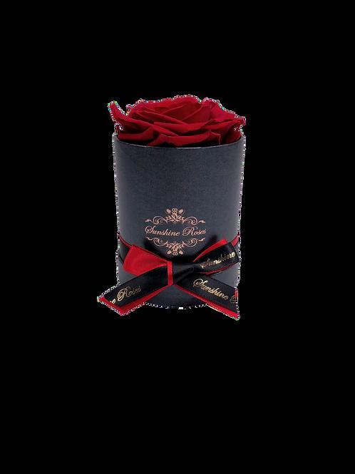 Single Rose Round Paper Box