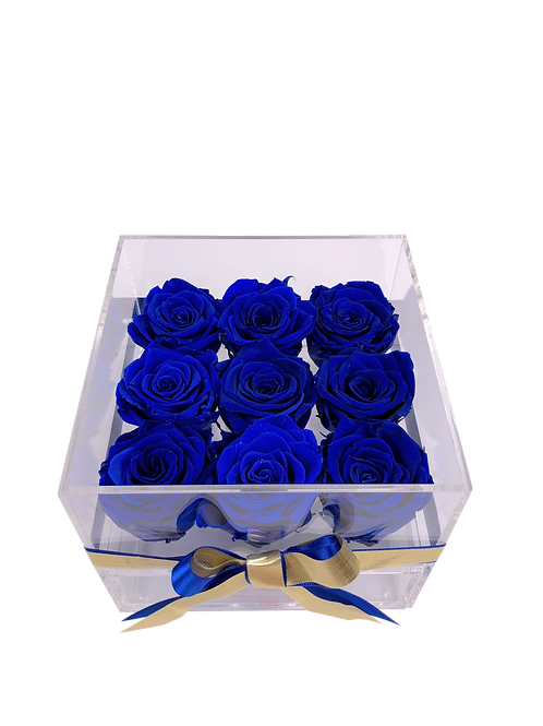 Medium Acrylic 9 Royal Blue Roses