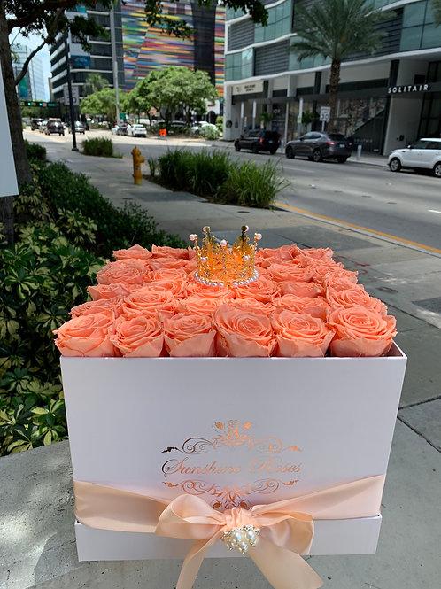 Large Square Rose Box
