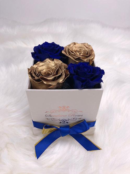 Small Square 4 Roses Paper Box FIU