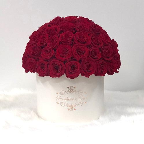 Deluxe Round Roses Box
