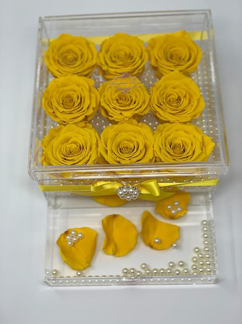 Large Acrylic 16 Yellow Roses