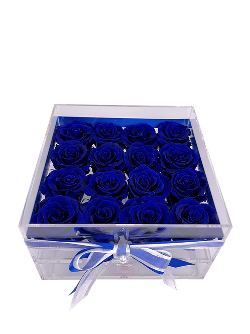 Large Acrylic 16 Royal Blue Roses