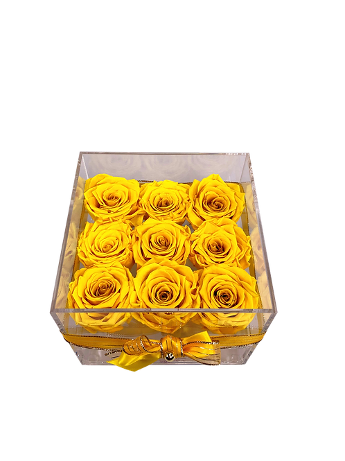 Medium Acrylic 9 Yellow Roses