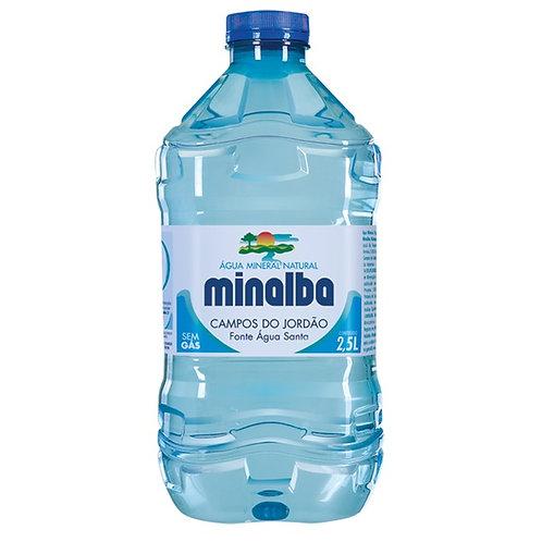 Água Mineral Minalba s/gás 2,5lt pct c/ 3 und.