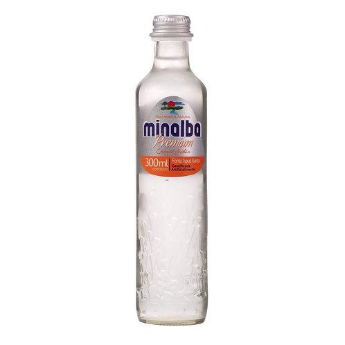 Água Mineral Minalba Premium c/gás 300ml cx c/ 12un