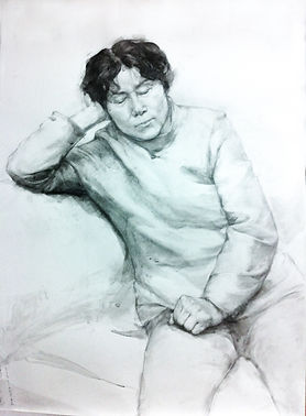 Old lady life drawing (2013)