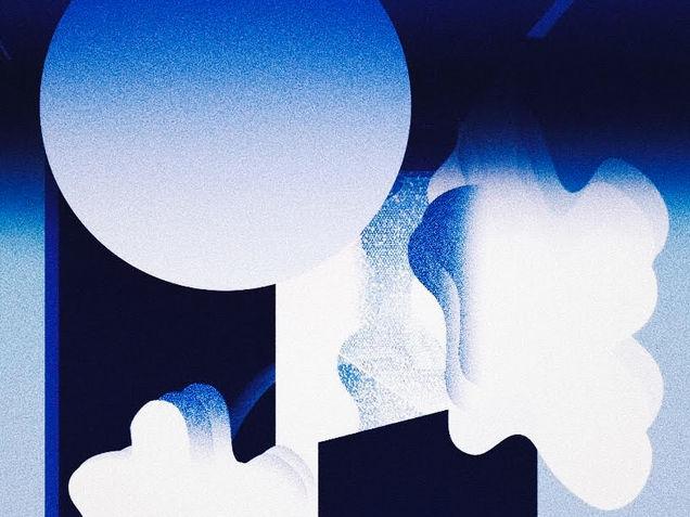 Space Branding illustration Blue