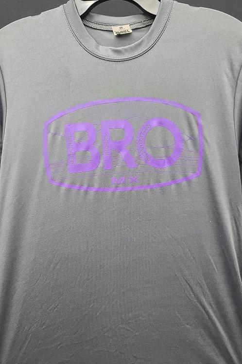 Graphite Performance T-Shirt with Purple Logo