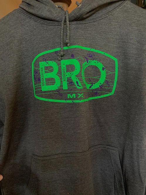 Adult Charcoal Hoodie with Splatter Logo