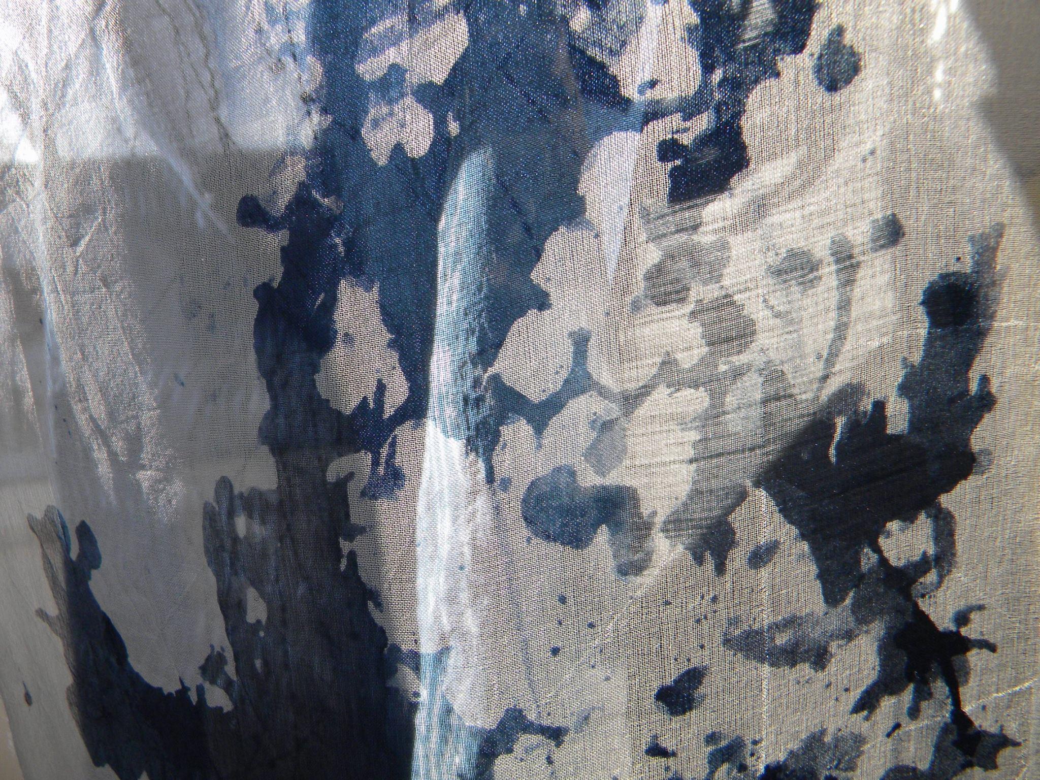 silke/uld kvalitet med tryk af Lene Thomasen.