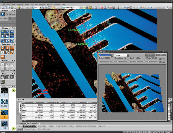 Microscope Imaging Software with Measurement and Annotation