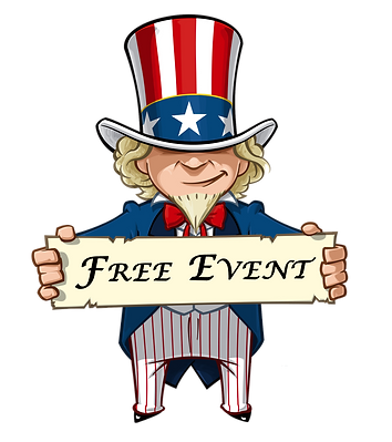 Uncle Sam holding a free even sign